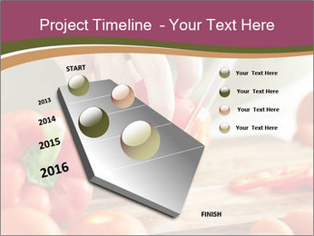 Cutting vegetables PowerPoint Template - Slide 26