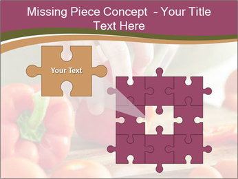 Cutting vegetables PowerPoint Template - Slide 45