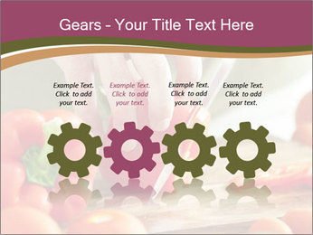 Cutting vegetables PowerPoint Template - Slide 48