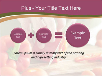Cutting vegetables PowerPoint Template - Slide 75