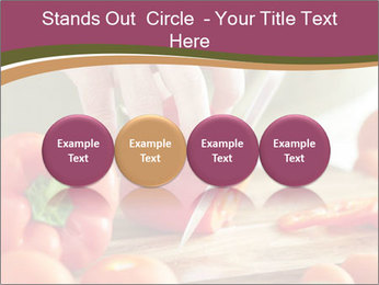 Cutting vegetables PowerPoint Template - Slide 76
