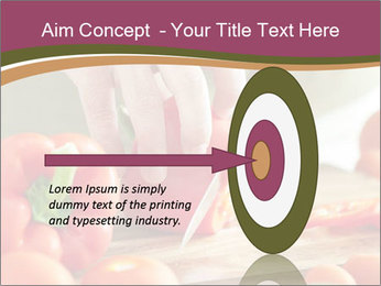 Cutting vegetables PowerPoint Template - Slide 83