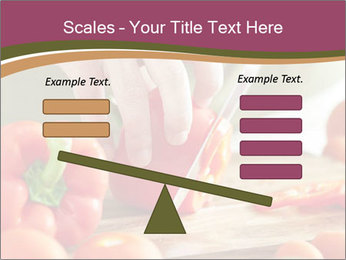 Cutting vegetables PowerPoint Template - Slide 89