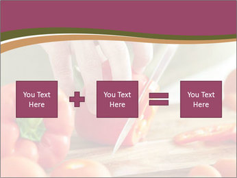 Cutting vegetables PowerPoint Template - Slide 95