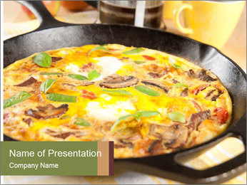 Eggs and vegetables PowerPoint Template