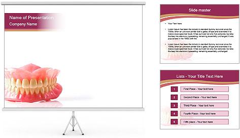 Acrylic denture PowerPoint Template