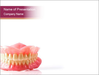 Acrylic denture PowerPoint Template - Slide 1