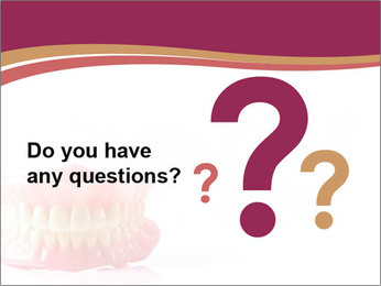 Acrylic denture PowerPoint Template - Slide 96