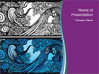 Mermaid PowerPoint Template - Slide 1