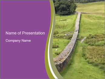 Hadrian's wall PowerPoint Template - Slide 1