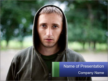 The guy looks thoughtfully PowerPoint Template - Slide 1