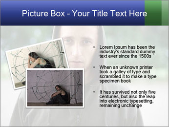 The guy looks thoughtfully PowerPoint Template - Slide 20