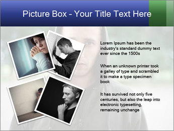 The guy looks thoughtfully PowerPoint Template - Slide 23