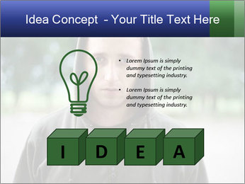 The guy looks thoughtfully PowerPoint Template - Slide 80