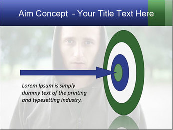 The guy looks thoughtfully PowerPoint Template - Slide 83