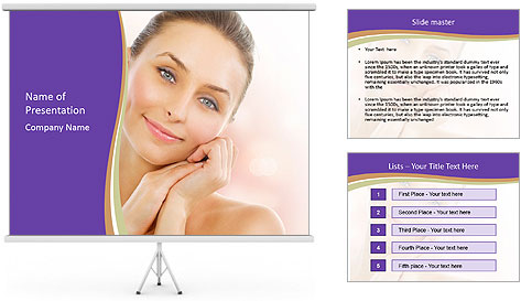Beautiful Healthy Woman PowerPoint Template