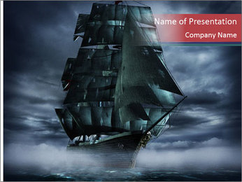 Ghost ship PowerPoint Template - Slide 1