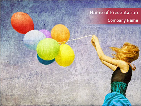 Multicolored balloons PowerPoint Templates