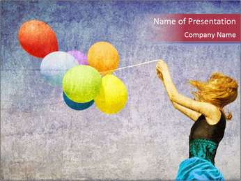 Multicolored balloons PowerPoint Template