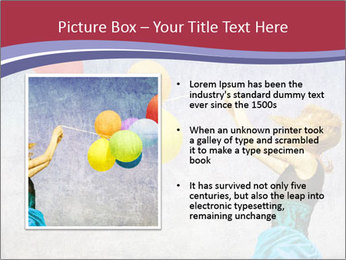 Multicolored balloons PowerPoint Templates - Slide 13