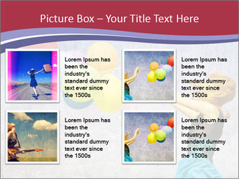 Multicolored balloons PowerPoint Templates - Slide 14