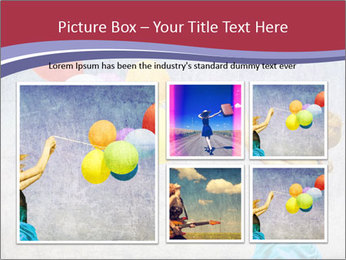 Multicolored balloons PowerPoint Templates - Slide 19