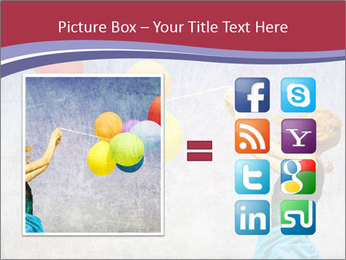 Multicolored balloons PowerPoint Templates - Slide 21