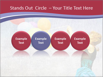 Multicolored balloons PowerPoint Templates - Slide 76
