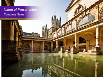 Roman Baths PowerPoint Template - Slide 1