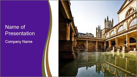 roman baths powerpoint template backgrounds google slides id