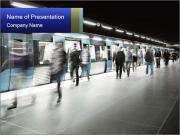 People on subway PowerPoint Template