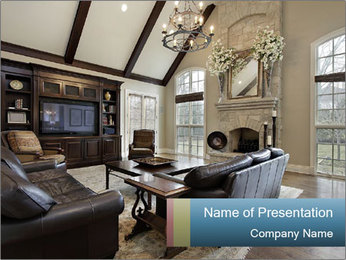 Family room PowerPoint Template