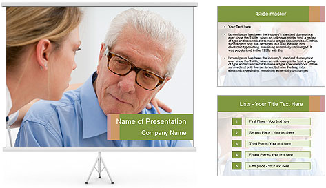Senior man PowerPoint Template