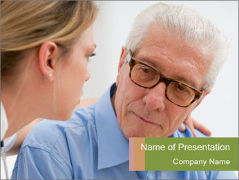 Senior man PowerPoint Template