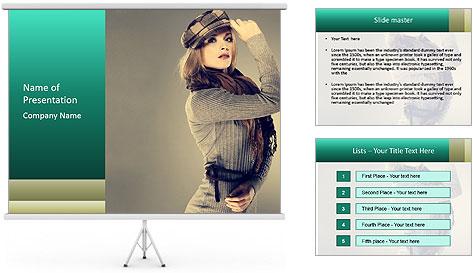 Girl posing PowerPoint Template