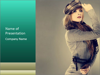 Girl posing PowerPoint Template