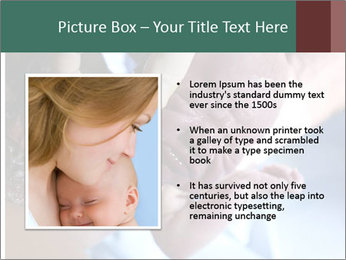 Baby only a few seconds before PowerPoint Template - Slide 13