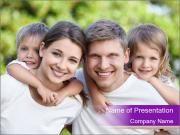 Children with parents PowerPoint Template
