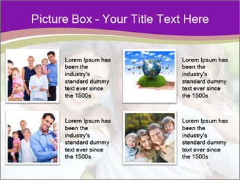 Children with parents PowerPoint Template - Slide 14