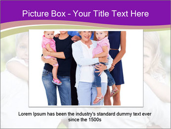 Children with parents PowerPoint Template - Slide 15