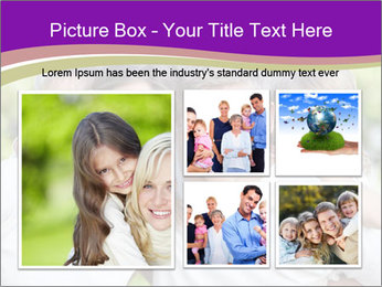 Children with parents PowerPoint Template - Slide 19