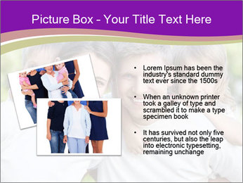 Children with parents PowerPoint Template - Slide 20