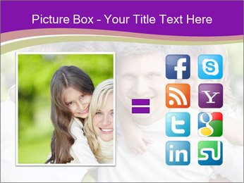 Children with parents PowerPoint Template - Slide 21