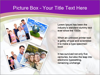Children with parents PowerPoint Template - Slide 23