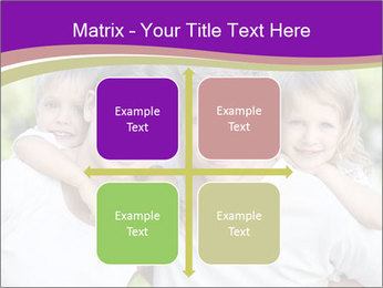 Children with parents PowerPoint Template - Slide 37