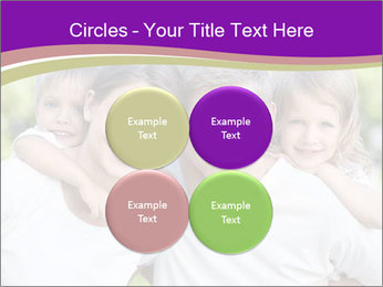 Children with parents PowerPoint Template - Slide 38