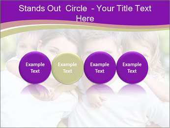 Children with parents PowerPoint Template - Slide 76