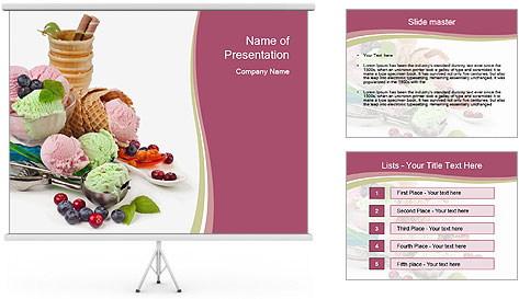 Ice cream PowerPoint Template