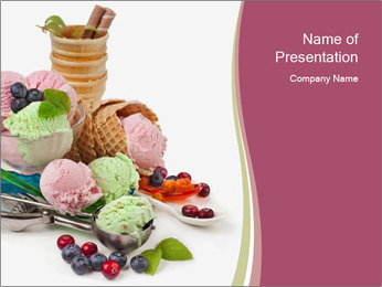 Ice cream PowerPoint Template - Slide 1