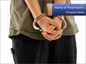 Handcuffs PowerPoint Templates - Slide 1